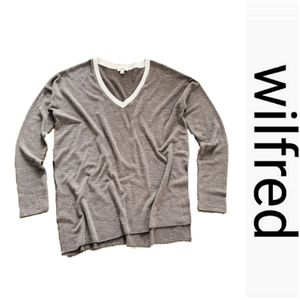 Aritzia WILFRED Sherbrooke Knit V Neck Pullover